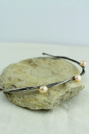 Vlasová korunka s perlami Marie